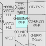 Denver neighborhood Thumbnail for Cheesman Park.