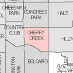 Denver neighborhood's thumbnail for Cherry Creek.